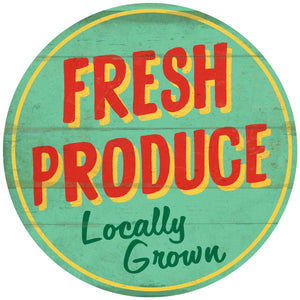 Fresh Produce Round Decal