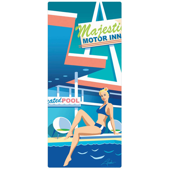 Motel Pool Majestic Motor Inn Decal