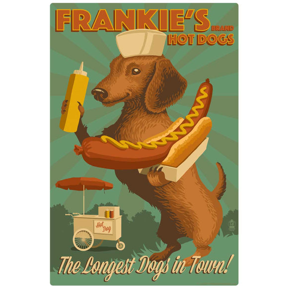 Frankies Hot Dogs Decal