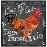 Farm Fresh Rooster Chalk Art Decal