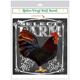 Select Farm Rooster Chalk Art Decal