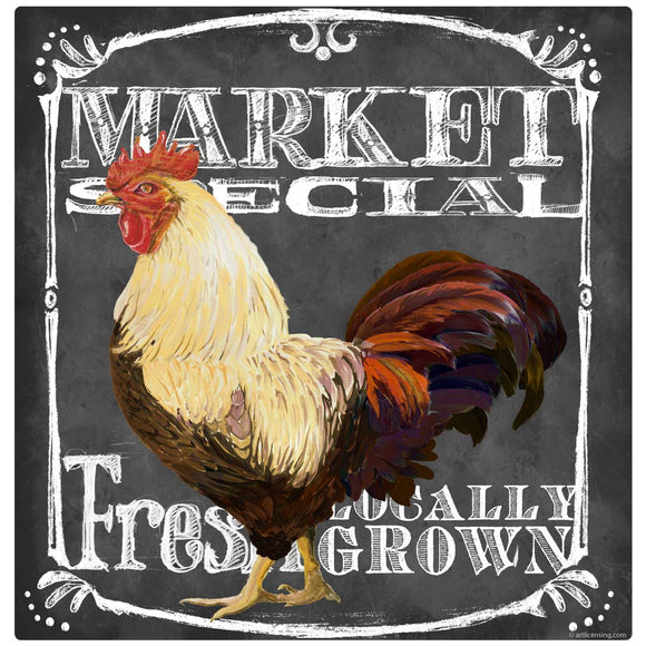 Market Special Rooster Chalk Decal