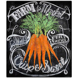 Carrots Farm to Market Chalk Art Decal