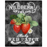Strawberries Red Patch Chalk Art Decal