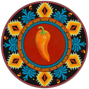 Orange Chili Pepper Mexican Decal