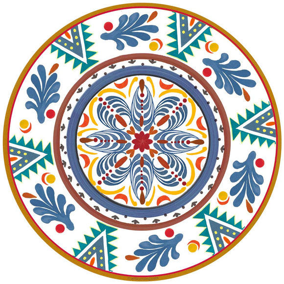 Blue Talavera Style Mexican Decal