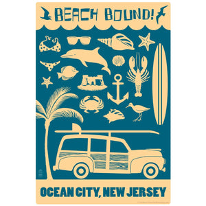 Beach Bound Ocean City New Jersey Decal