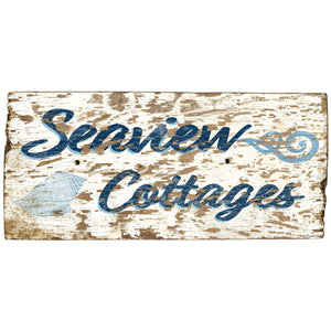 Seaview Cottages Distressed Decal