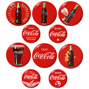Coca-Cola Red Buttons 5 x 7 Sticker Sheet