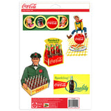Coca-Cola 1950s Style Sticker Set of 5