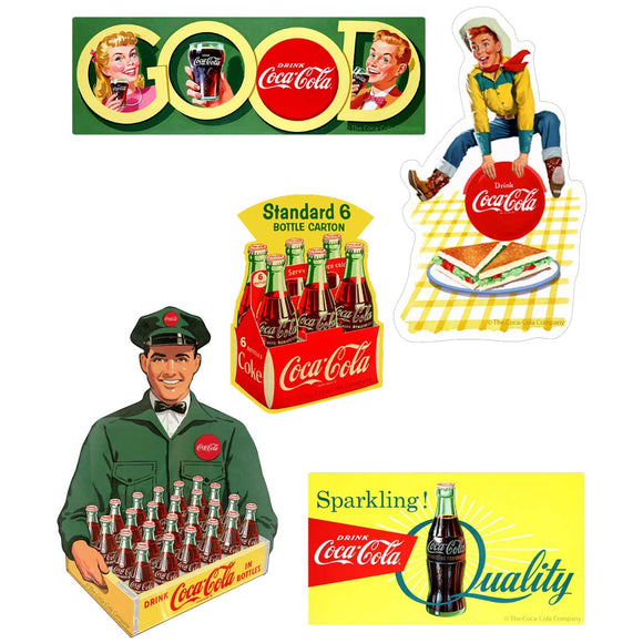 50s Beverage 5 x 7 Sticker Sheet