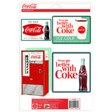 Coca-Cola 1960s Diner Style Sticker Set of 4