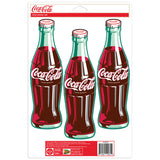 Coca-Cola 1950s Green Bottles Sticker Set of 3