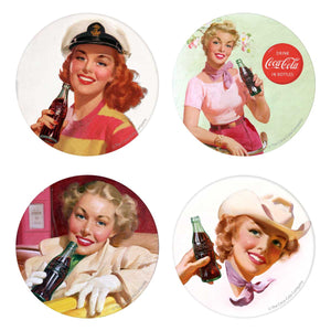 Coke Girls Buttons 5 x 7 Sticker Sheet