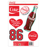Coca-Cola Classic Art Sticker Set of 6