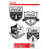 Coca-Cola Patches Style Art Sticker Set of 4