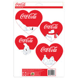 Coca-Cola Polar Bears Hearts Sticker Set of 4