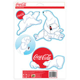 Coca-Cola Polar Bears Snow Sticker Set of 4