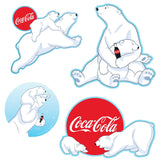 Polar Bears Snow 5 x 7 Sticker Sheet