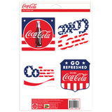 Coca-Cola Stars And Stripes Sticker Set of 4