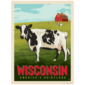 Wisconsin Americas Dairyland Cow Decal