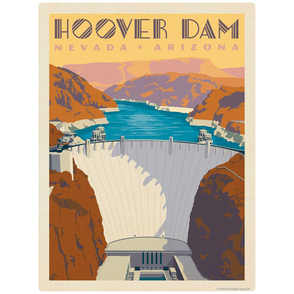 Hoover Dam Nevada Arizona Decal