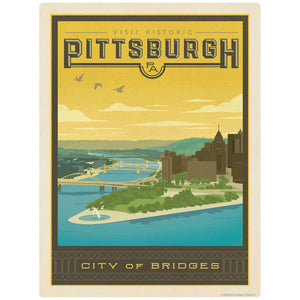 Pittsburgh Pennsylvania City of Bridges Decal