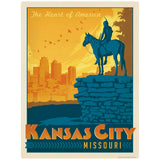 Kansas City Missouri Scout Statue Decal