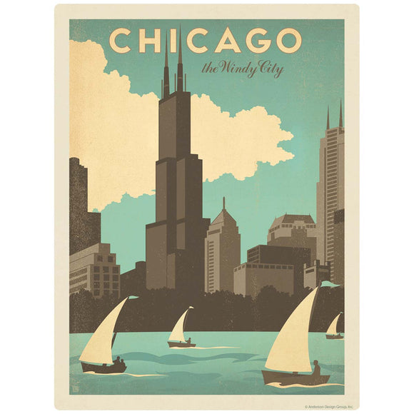 Chicago Illinois Windy City Decal