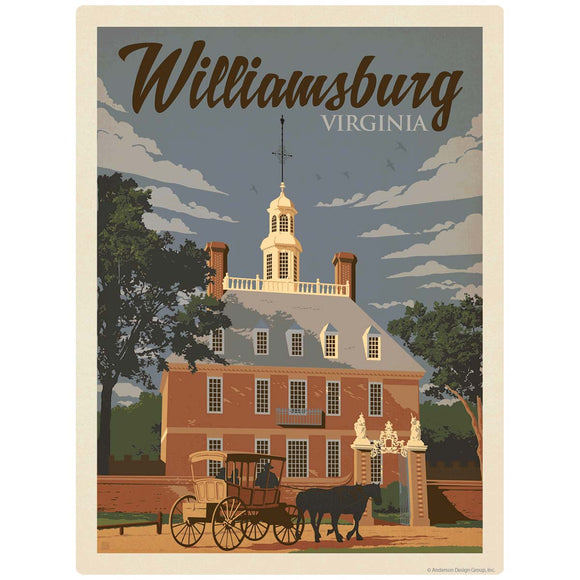 Williamsburg Virginia Governors Palace Decal