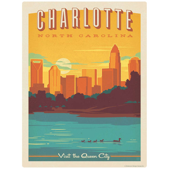 Charlotte North Carolina Queen City Decal