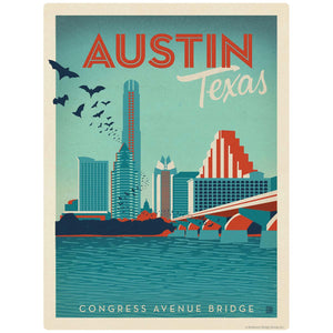 Austin Texas Congress Avenue Bridge Decal