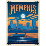 Memphis Tennessee Home of the Blues Decal