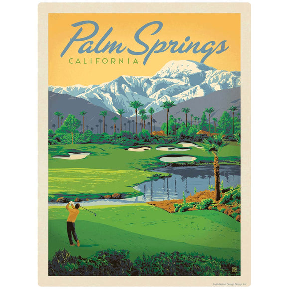 Palm Springs California Golf Decal