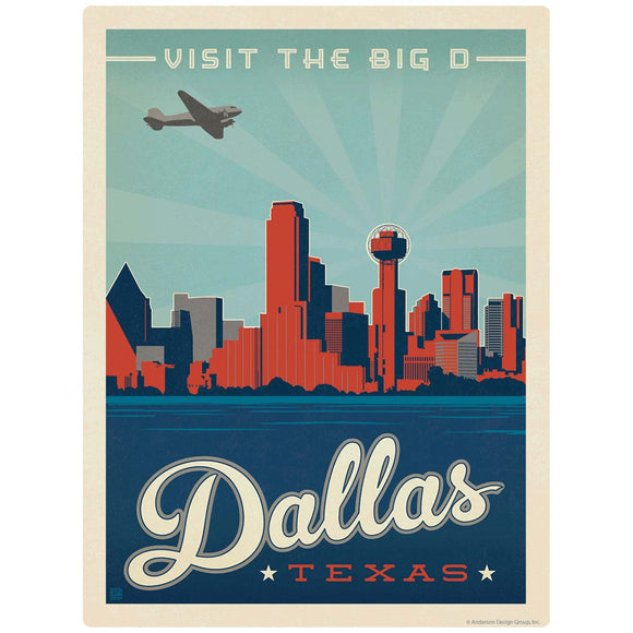 Dallas Texas Visit the Big D Decal