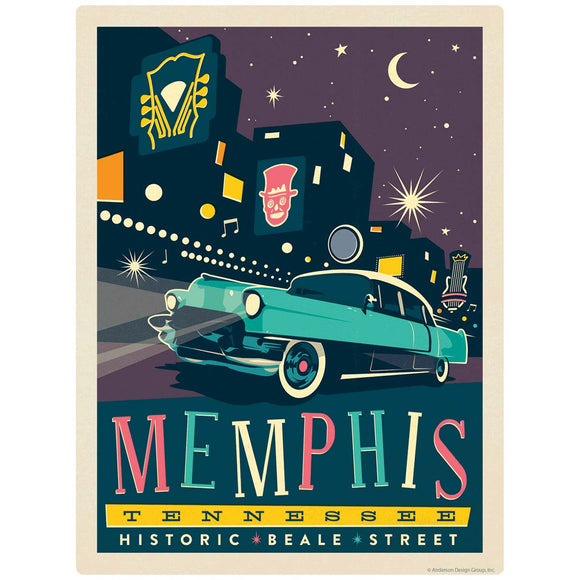 Memphis Tennessee Historic Beale Street Decal