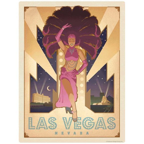Las Vegas Nevada Showgirl Decal