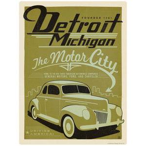 Detroit Michigan Motor City Decal