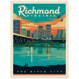 Richmond Virginia River City Decal