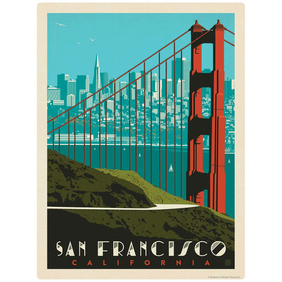 San Francisco California Golden Gate Skyline Decal