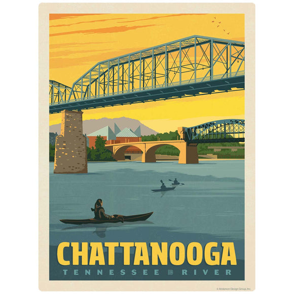 Chattanooga Tennessee River Decal
