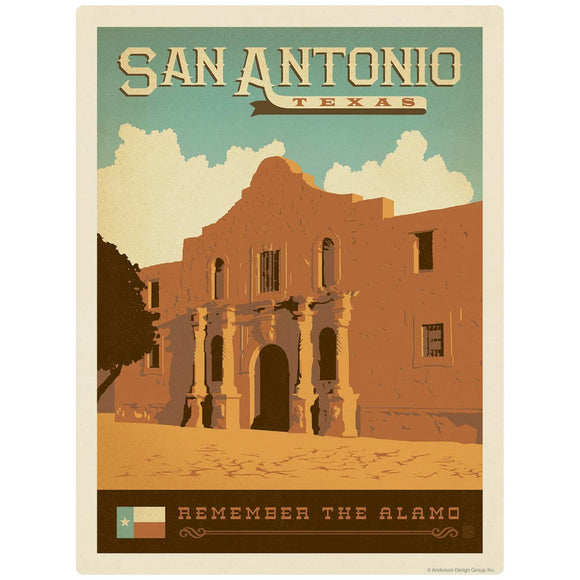 San Antonio Texas Remember the Alamo Decal