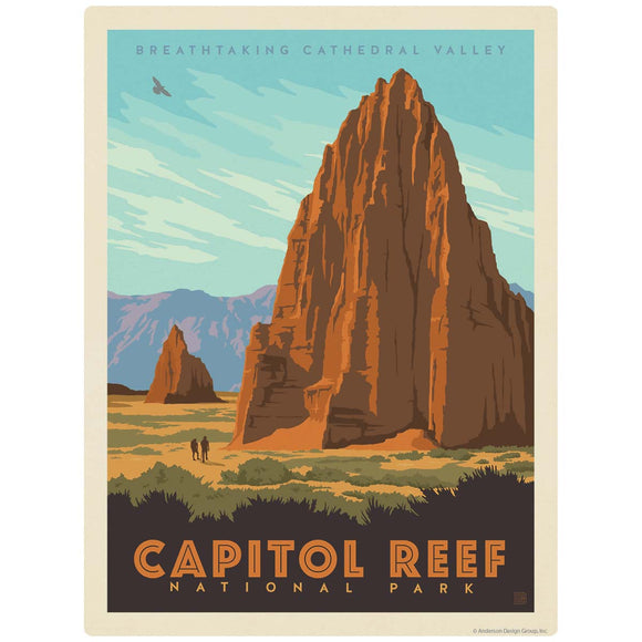 Capitol Reef National Park Cathedral Valley Utah Decal