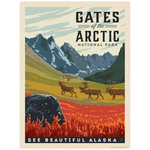 Gates of the Arctic National Park Alaska Decal