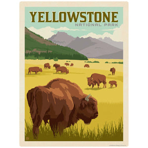 Yellowstone National Park Bison Decal