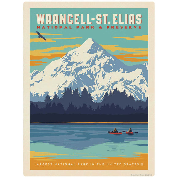 Wrangell St. Elias National Park Alaska Decal