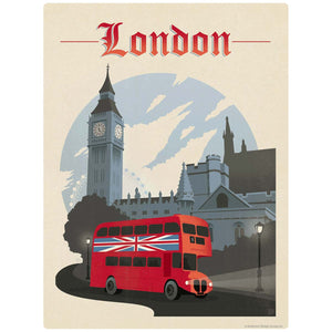 London England Double Decker Bus Decal