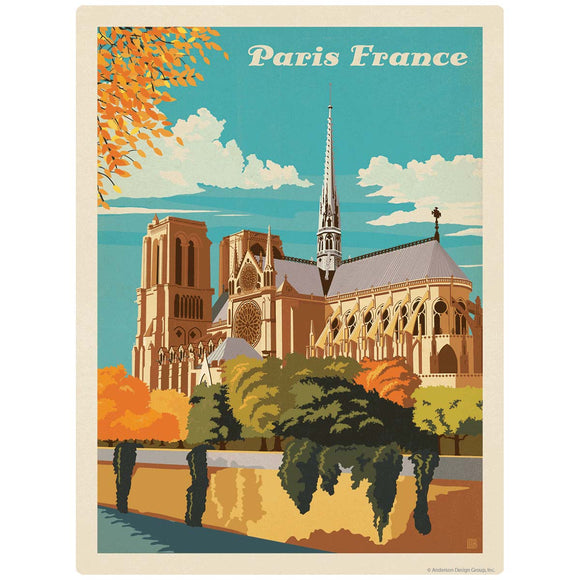 Paris France Notre Dame Cathedral Decal