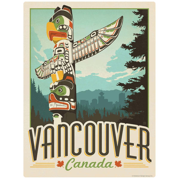 Vancouver Canada Totem Pole Decal