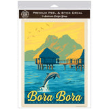 Bora Bora French Polynesia Dolphin Decal
